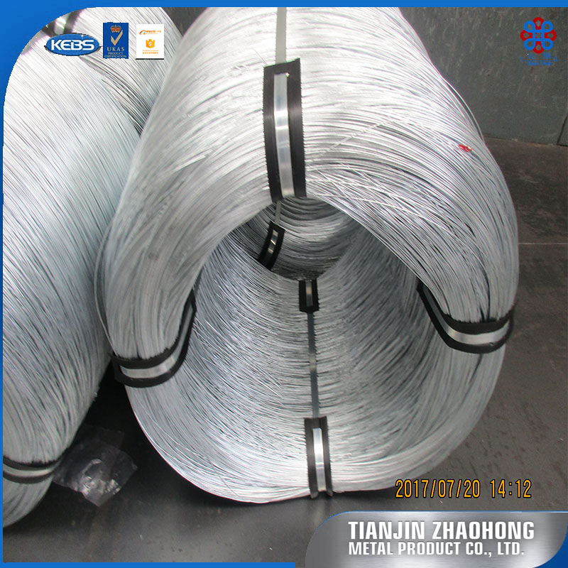 Thermal processed cold drawing wire with galvanized surface