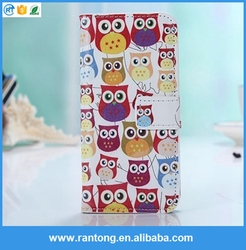 High Quality Owl Flip PU Leather Wallet Stand Case Cover For Smart Phone