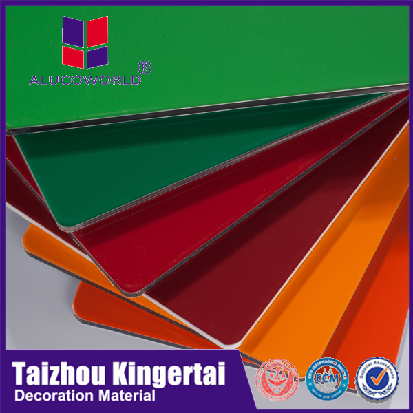 Alucoworld non-toxic and low-density Polyethylene water resistant wall aluminum composite panel for ping-pong table