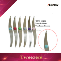 TW1045 Poppular All Stainless Steel Series point orthodontic bracket eyebrow tweezers manufacturer