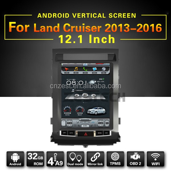 fit for toyota land cruiser 2012/2013/2014/2015 car multimedia with 12.1'' viteral screen