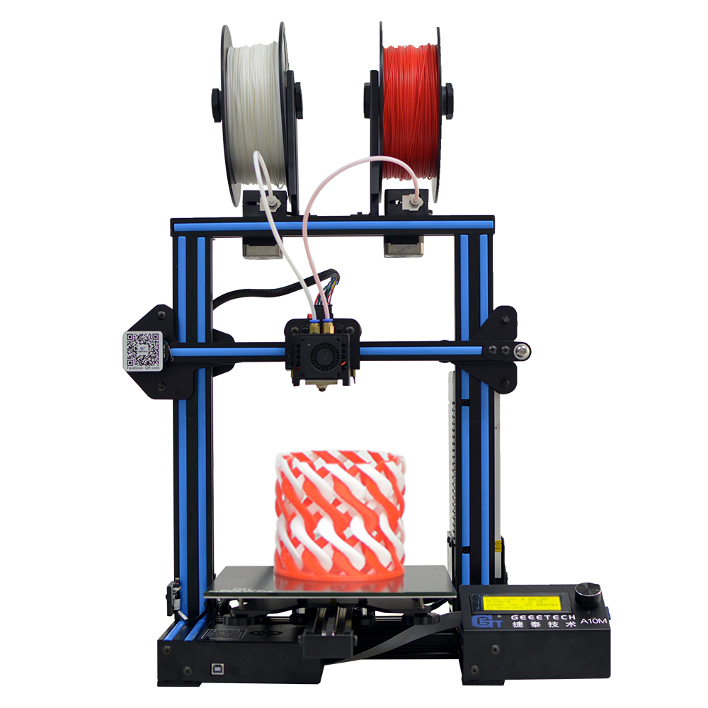 Geeetech A10M Impresora 3D Mix color 2 in <strong>1</strong> out dual extruder 3D Printer