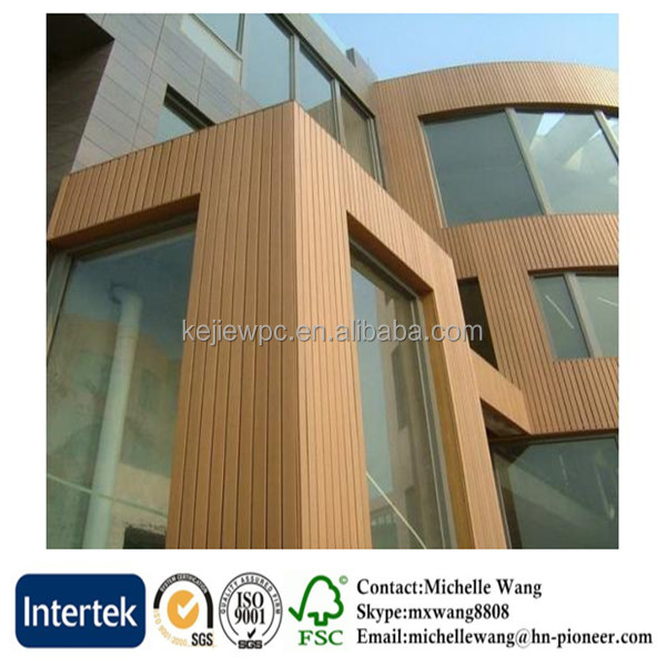 Popular wood plastic composite wall cladding wood effect, WPC Wall, WPC Wall caldding