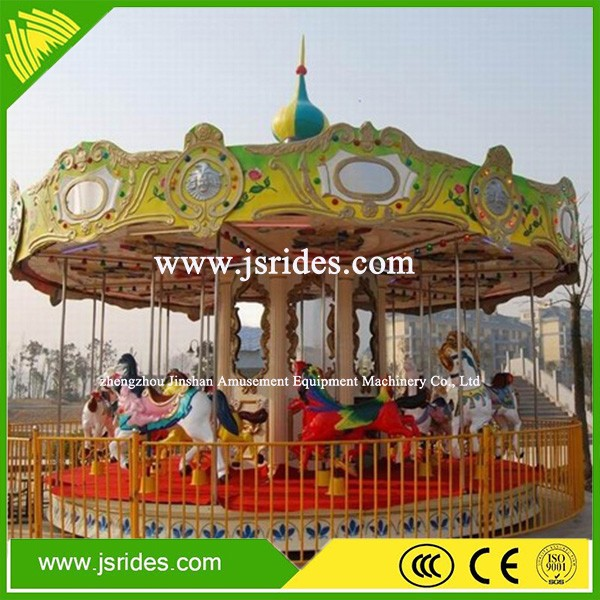 Amazing kids play game outdoor merry go round christmas carousel