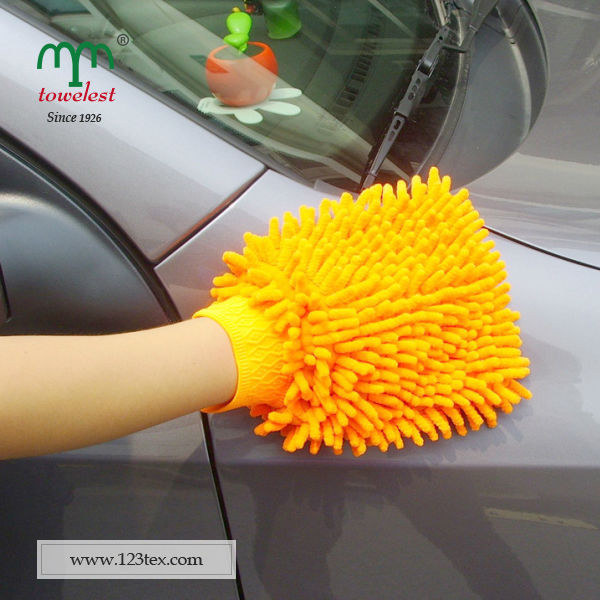 2016 New Products Top Selling Wholesale Chenille Car Clean Gloves