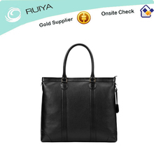 100% cowhide leather textured leather tote bag for professional raveling-HB-194
