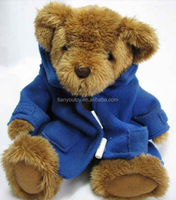 Hi-quality stuffed teddy bear with T-shirt plush toy for baby