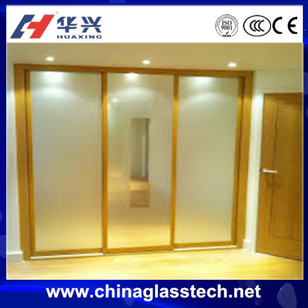 Corrosion resistant aluminum alloy frame Sound insulation insulated glass lock automatic sliding glass door