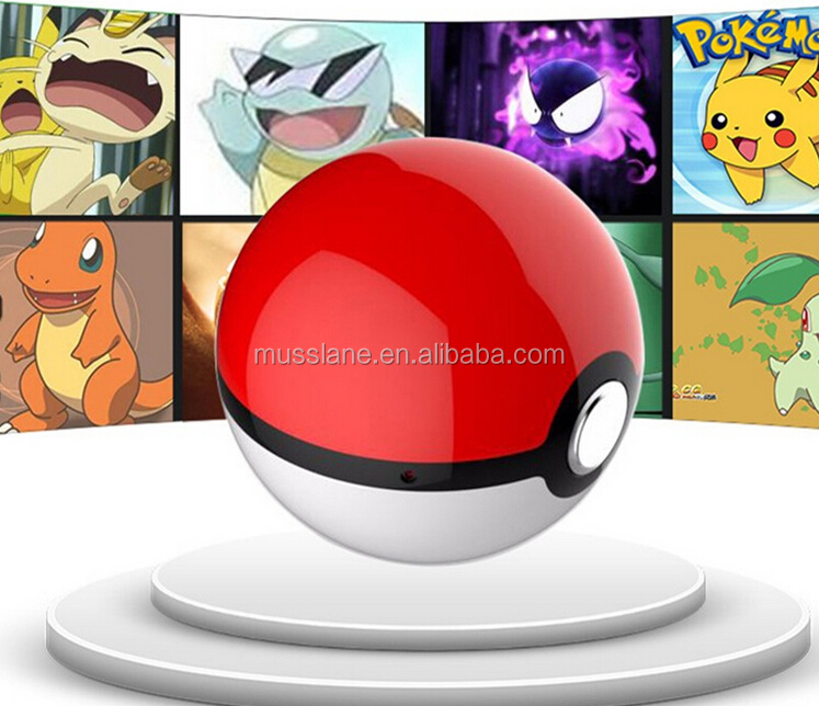 Very hot sale pokenball powerbank v.1 Pokemon Go Pokeball 12000 Mah LED phone Charge Pokeman Power Bank