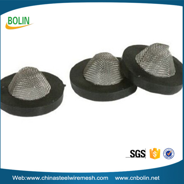 "1/2"" diameter 80 mesh stainless steel wire mesh screen hose rubber filter washer/filter gasket"