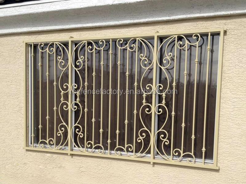 Simple fer fen tre grilles de conception pour la maison for Fenetre en fer forge moderne