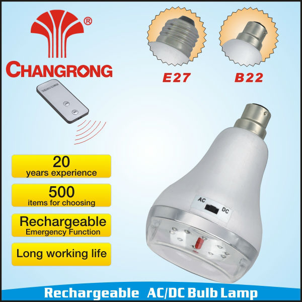 led emergency light led rechargeable work light remote control rechargeable led bulb light