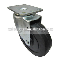 Swivel plate type 5 inch removable caster wheels soft or hard rubber casters and wheels