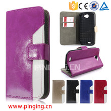 Assorted color design oiling pu leather flip cell phone case for Bmobile AX524 leather case