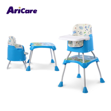 Hot selling cheap wholesale kids furniture high chair plastic baby dining table and chair