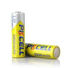 PKCELL 2A baterias NI-MH 2600Mah 1.2V AA Rechargeable battery