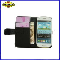 Wallet Leather Case for Galaxy S3 Mini,Filp Cover for Samsung Galaxy S3 Mini I8190,More Colors Available,Laudtec