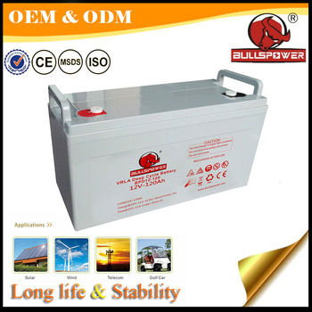 Solar battery 12v 120ah deep cycle battery solar battery storage box