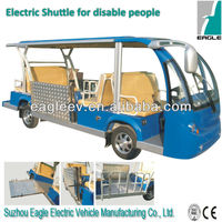 Electric handicap vehicle for disabled people with wheelchair, CE approved