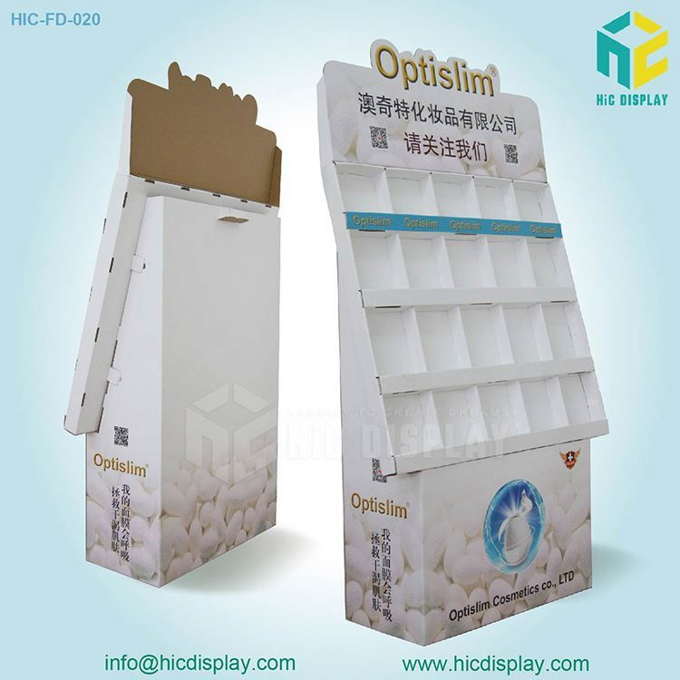 Custom Printing Paper Material make up store display&beauty products display shelf