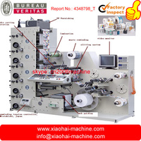 IR UV Adhesive Sticker Label Printing Machine With Die Cutting Inline For 2 colors,5 colors