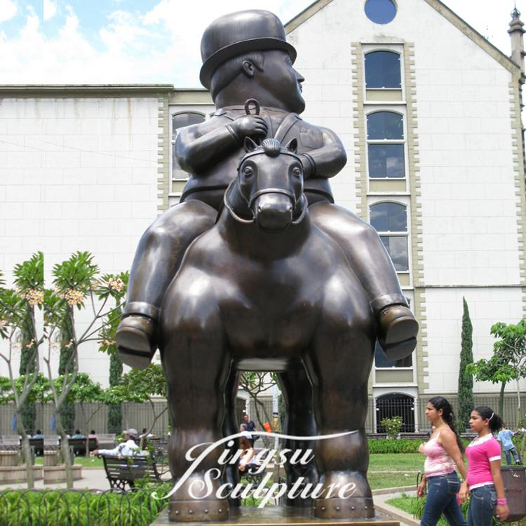 High Quality botero sculpture man and horse statue