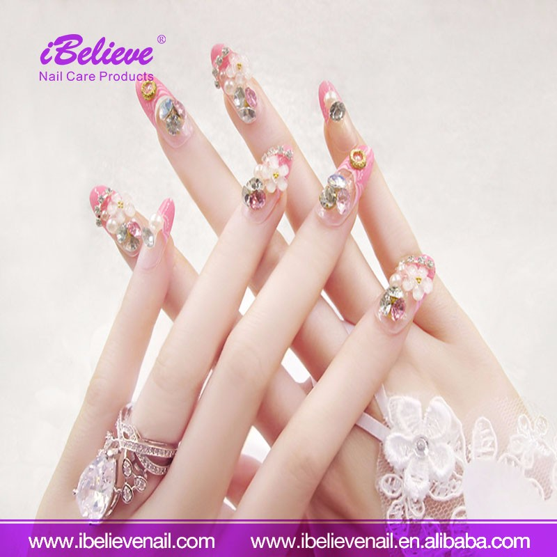 Nail Salon Profession Fake Nail Art Tips Artificial Finger Pointed Art Tips For Christmas Promotion