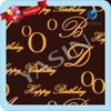 Happy Birthday Cake Design Transfer Paper Chocolate for Cake Decoration
