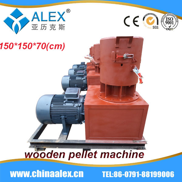 2014 newest design plastic film pelletizing machine vertical ring die wood pellet machine for promotion AW-450