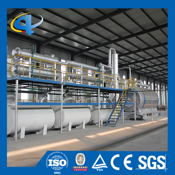 Pyrolysis plant adopt auto submerged welding technology for rubber tyre for sale