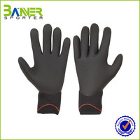 neoprene black working gloves ce