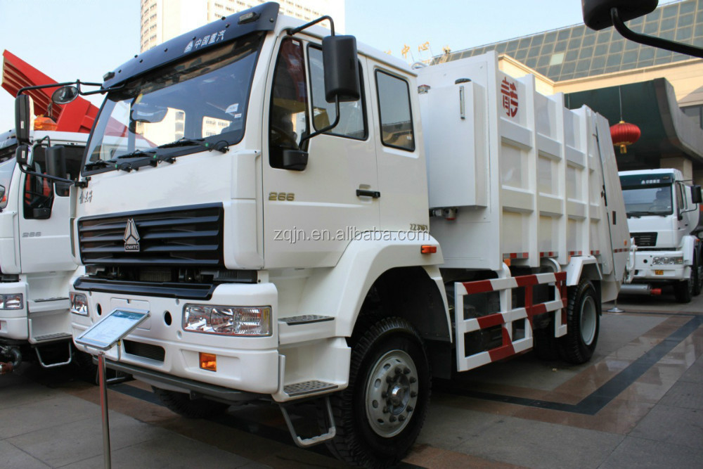 Compaction Rubbish Truck SWZ 8 Cubic Garbage Truck Capacity