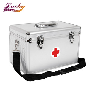 Aluminum First Aid Case Medical Devices Carrying Storage case