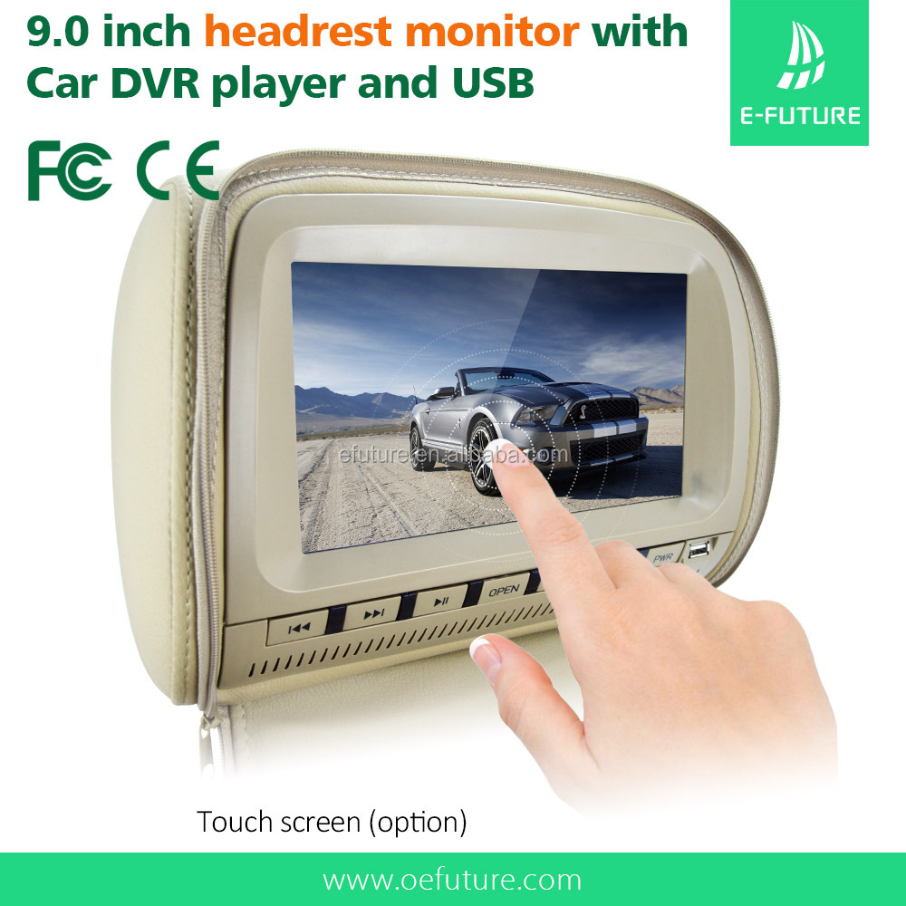 9 inch headrest dvd for mercedes with speaker,IR,FM,USB,SD function