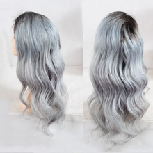 Customized Peruvian hair grade 7A virgin natural Peruvian hair Dubai grey full lace wig with baby hair