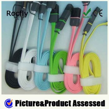 Colorful all in one usb data cable 8pin+micro5pin
