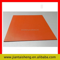 High temp solid orange silicone rubber sheet