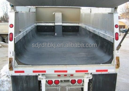 6m long hard plastic dump truck bed liner for loading stone and earthwork