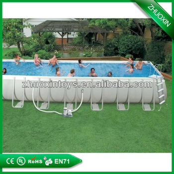 Outdoor Portable Pvc Above Ground Framed Swimming Pool Inflatable Swimming Pool Buy Framed