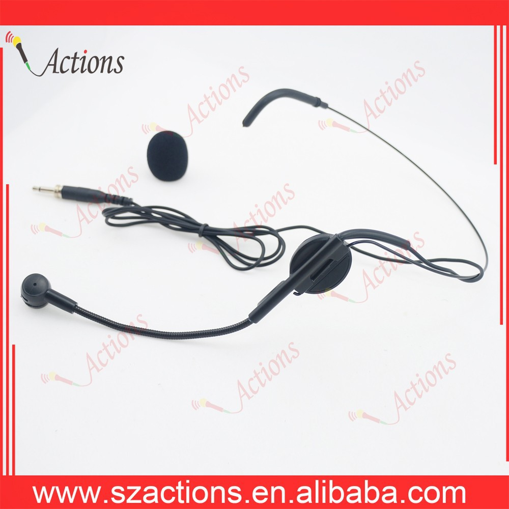 Handfree Condenser Microphone HigH Quality Headset Microphone for Wireless System For Vocal