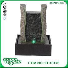 water ripple lighted slate resin modern tabletop stone fountains
