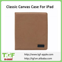 2013 New Style Brown Color Classic Canvas Case For iPad