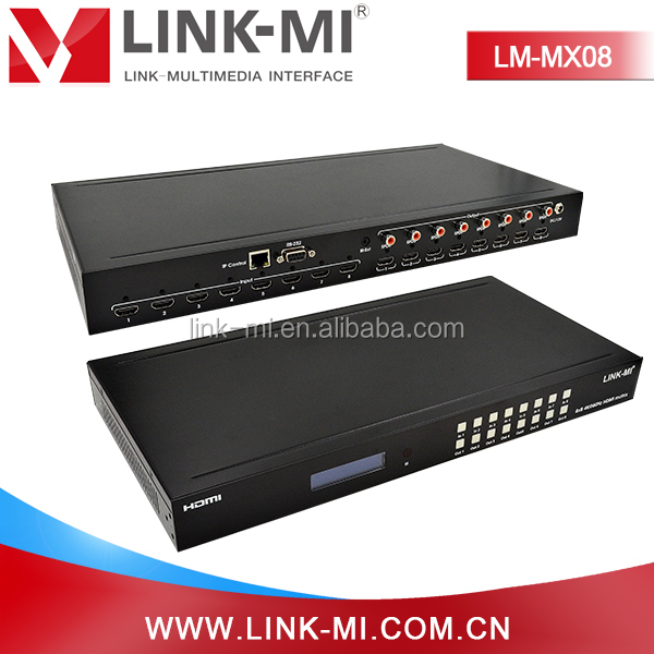 hdmi 8X8 HDMI 2.0 HDCP Matrix switcher 4K@60hz HDMI channel switcher 8 port splitter