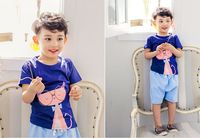 good quality print t shirt stylish style western design clothes for kids