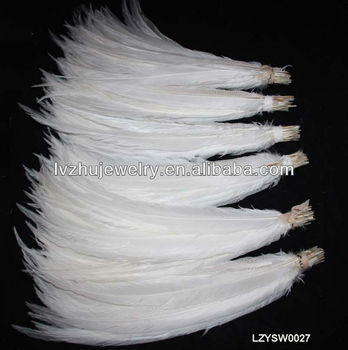 long size White Silver pheasant feathers LZYSW0027
