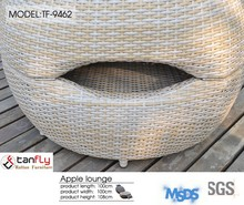 Tanfly SGS MSDS wicker rattan outdoor furniture round rattan lounge.