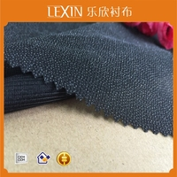 Two way stretch fusible woven interlining /Tricot woven interlining fabric for winter coats/100% Polyester interlining