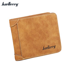 Vintage Men <strong>Wallet</strong> Leisure Slim Short Nubuck Leather <strong>Wallet</strong> For Male Gift