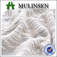 Mulinsen Textile New Collection Fall Season Knitted 60% Polyester 40% Cotton Hacci Sweater Fabric