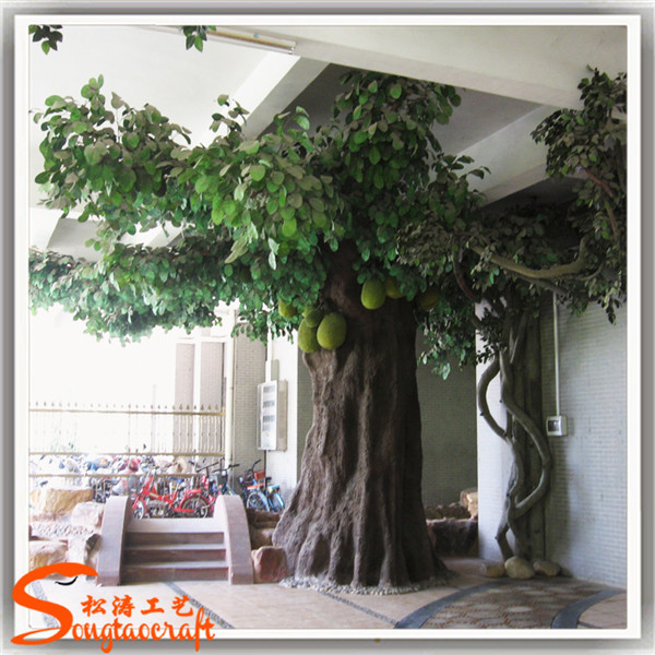Large artificial decorative tree indoor decor tropical for Artificial trees for home decoration